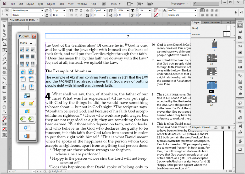 Publishing Assistant Toolbar and InDesign